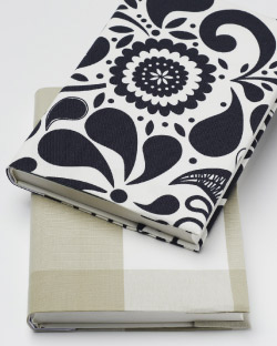 Note books with fabric covers