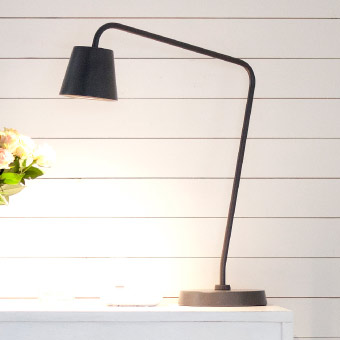 Close-up of TISDAG LED work lamp in black