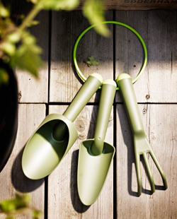 GRÄSMARÖ 3-piece gardening set in green