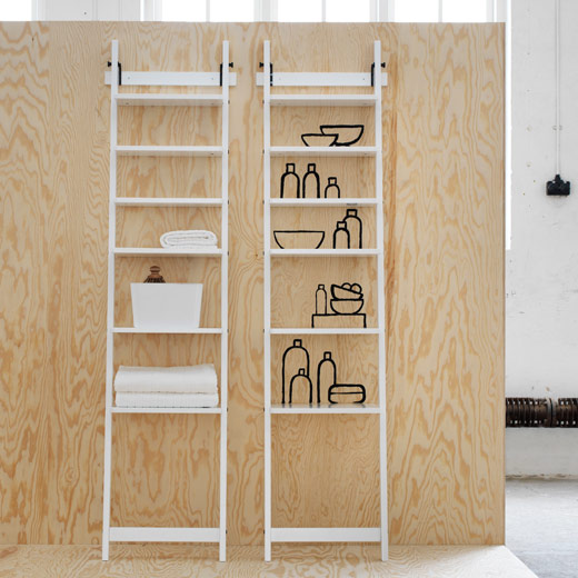 Two HJÄLMAREN steel wall shelf in white