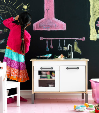 A child-sized kitchen