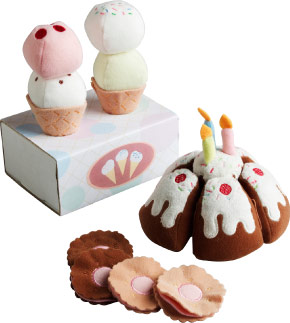 DUKTIG toy dessert set