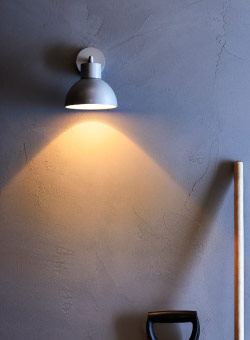 Foco de pared LED SOLBACKEN en gris