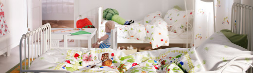 Dormitorio infantil ideal para vegetarianos