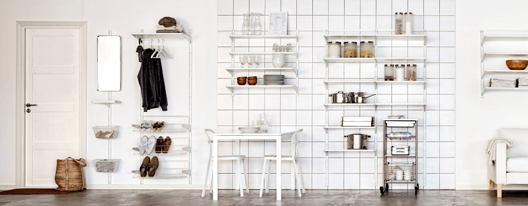 IKEA storage furniture throughout the home