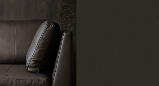 STOCKHOLM three seat sofa in dark brown Seglora leather, by IKEA.