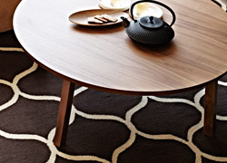 STOCKHOLM flatwoven rug in net pattern brown, by IKEA