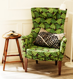 STOCKHOLM armchair high back in Mosta green, by IKEA