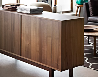 STOCKHOLM sideboard in walnut veneer, by IKEA