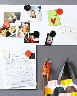 Pictures and notes on SPONTAN magnetic board