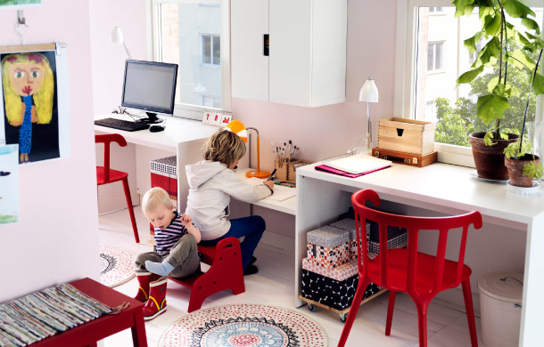 Shared workspace for adults and children