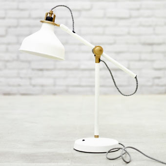Close-up of RANARP off-white work lamp