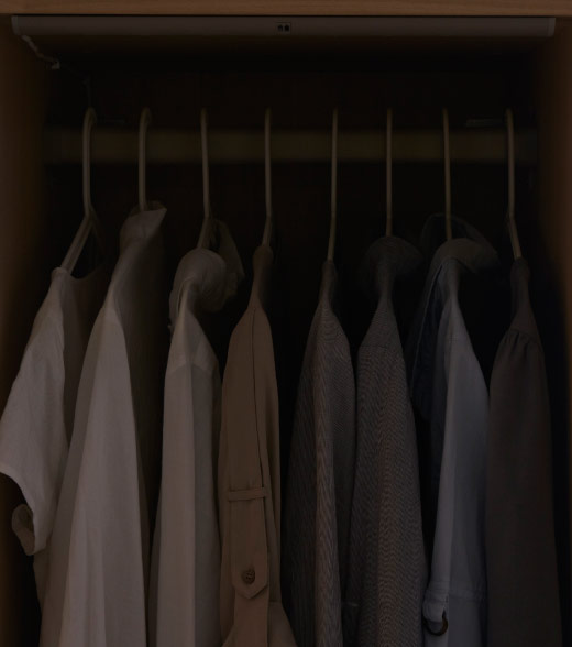PAX wardrobe with integrated lighting off