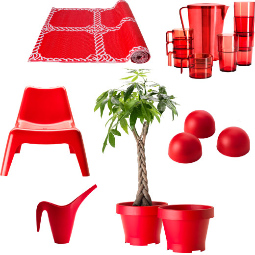 collage u a aus flach gewebtem lisel teppich in rot. Black Bedroom Furniture Sets. Home Design Ideas