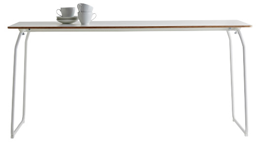 Cutout image of the IKEA PS 2014 Folding Table with cups and saucers on.