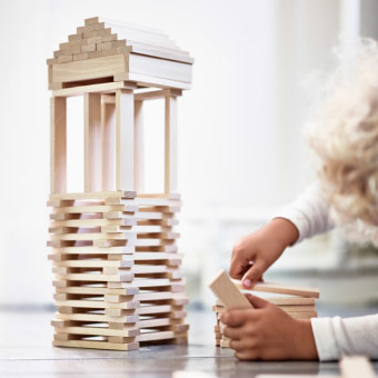 FUNDERA building blocks are perfect for budding architects and for stimulating any child's imagination. Made from solid beech, they're durable enough for your future grandchildren, too.
