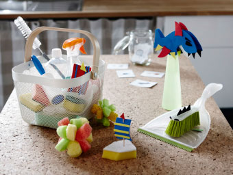 Looking to introduce the kids to cleaning chores at home? Our advice is to make a game out of it. Like this kiddified kids cleaning kit. Made by adding foam animal features to make the gear more fun.