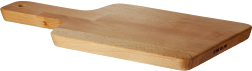 A wooden chopping board