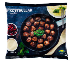 A bag of IKEA meatballs.