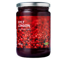 A jar of IKEA lingonberry jam.