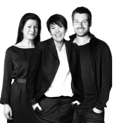 A photo of the three designers for VALLENTUNA sofa series.
