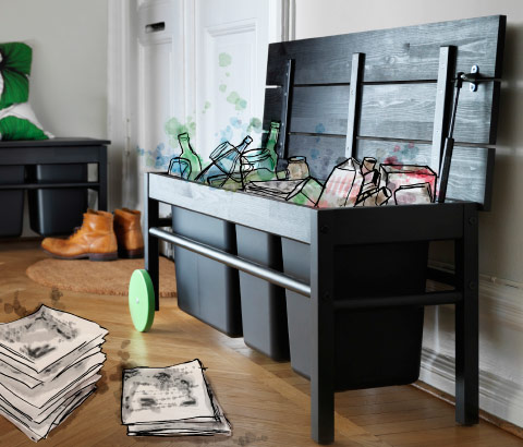 abfalltrennung abfallsammler g nstig online kaufen ikea. Black Bedroom Furniture Sets. Home Design Ideas