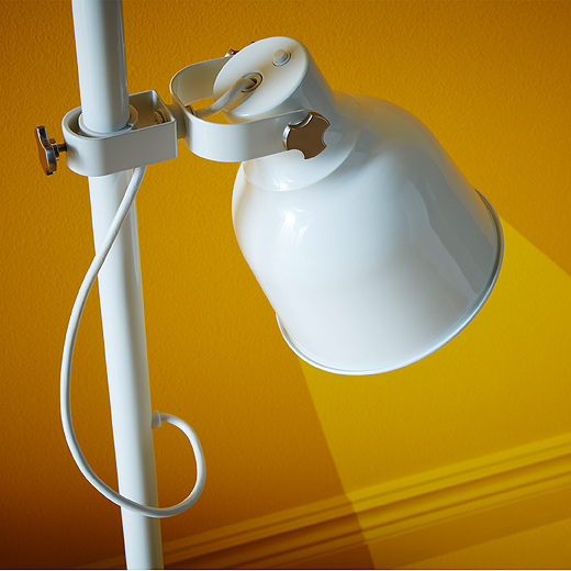 Close-up of a white adjustable shade.
