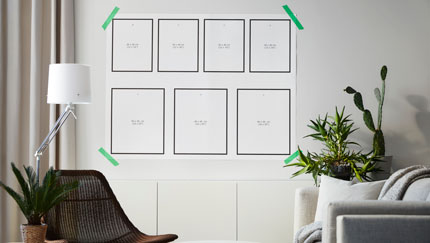 Wall collages colecci n ikea - Plantillas pared ikea ...