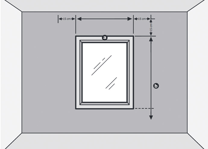 A drawing showing how to measure your window.