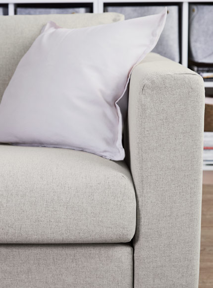 IKEA VIMLE sofa comes in a wide range of removable and water-washable textile covers.