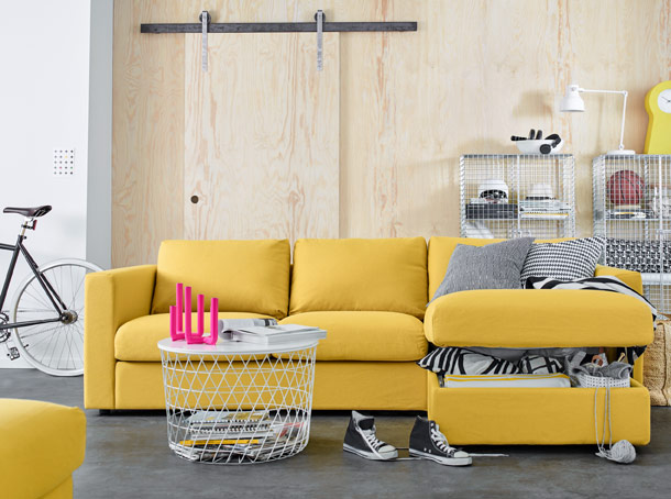 IKEA VIMLE yellow sofa