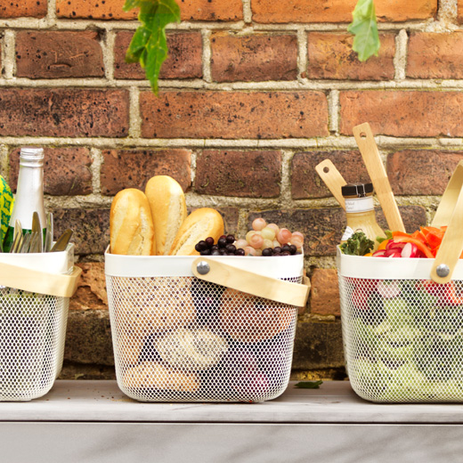 IKEA RISATORP baskets make it easy to bring along everything you need to enjoy etating outdoors