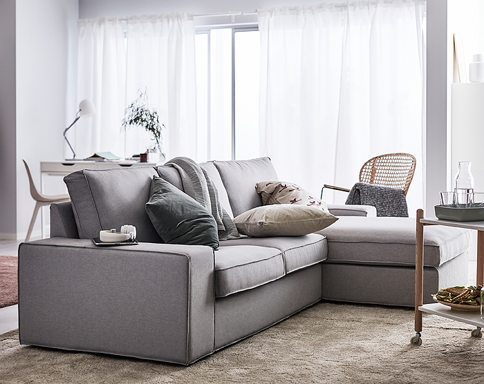 IKEA has a wide selection of sofas and one of them is KIVIK, a generous sofa series with armrests wide enough to sit on, seat cushions with memory foam that adapts to the contours of your body and chaise lounges big enough for two.
