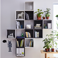 Design your own unique and flexible storage solution with EKET cabinet units in trendy white, light and dark grey shades. Whenever your storage needs change, add, mix, match and move the cabinets to create an updated layout combination.