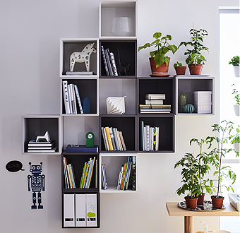 Design a flexible storage solution for your space with EKET cabinet units in trendy white, light and dark grey shades. Whenever your storage needs change, add, mix, match and move the cabinets to create an updated layout combination.