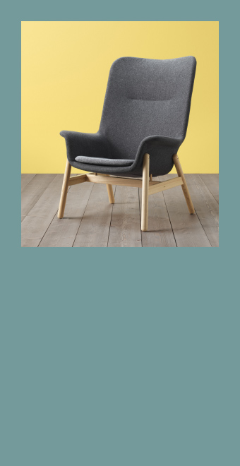 There's always something new at IKEA. New products, new collections, new ideas – everything you need to make your home more organised, functional and beautiful. Check regularly our website for fresh arrivals like this VEDBO armchair in dark grey.