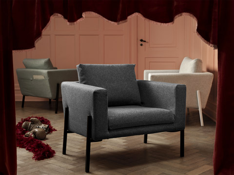 Sit back and relax in IKEA KOARP armchair that brings a modern comfort to your living room in a range of fresh colours.