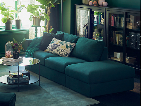 The covers for IKEA VIMLE sofa are both easy to change and washable, so buy an extra cover - or two, and change to give your furniture a new look. Andthe cotton covers are made of cotton from more sustainable sources.