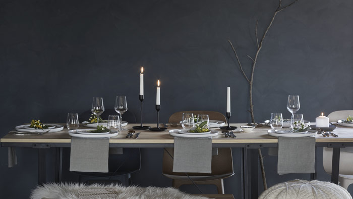 Cozy up with friends and family over the dinner table with IKEA VÄSSAD. Sturdy, stain resistant, and finished with matte lacquer, it makes dining a comfortable eating space.