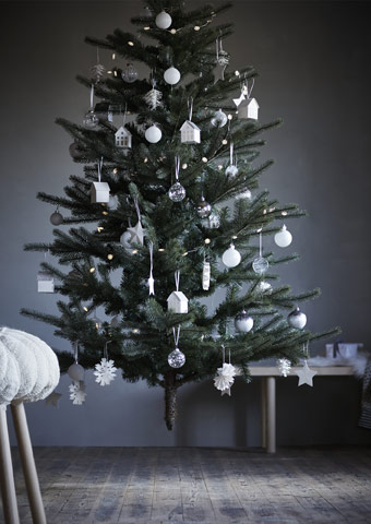 Make this holiday season stress free. The IKEA FEJKA is an artificial tree that folds flat, making it easy to store away until next year.