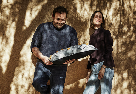 TILLTALANDE is a collection of unique, handcrafted textiles, designed to create jobs for women artisans in Jordan. It's a result of the collaboration between IKEA and Jordan River Foundation, here represented by designers Paulin Machado and Faridon Abida.