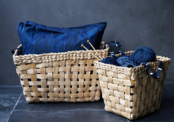 Hand woven baskets, hand embroidered towels, blankets and cushion covers - the INNEHÅLLSRIK collection from IKEA is made by skilled women artisans in India, and will add a handmade touch to your home.