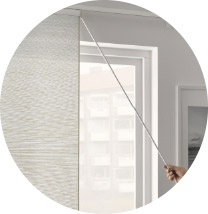 IKEA VIDGA white aluminium curtain draw rod creates a luxurious hotel feeling for your panel curtains. Easily move curtains back and forth while still keeping them clean.
