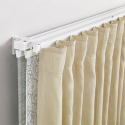 IKEA VIDGA single and triple track set lets you mix and match curtains and panel curtains together for a personalised and customised window treatment.