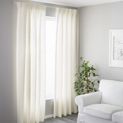 IKEA VIDGA white single track closing set comes with corner connectors that can help keep the light out from the sides of windows.
