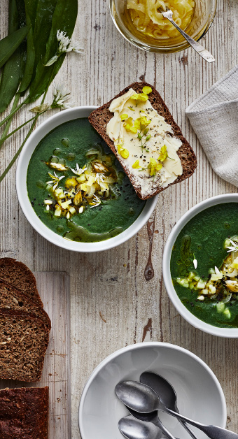 Try out the yummy IKEA recpie of Nettle and wild garlic soup with potatoes and onions.