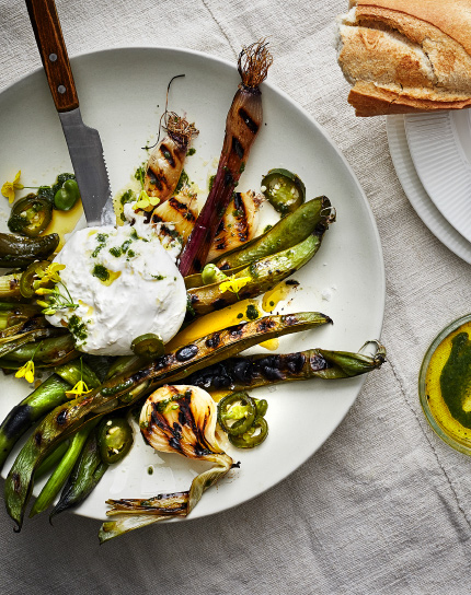 Try out the yummy IKEA recpie of Grilled vegetables with burrata and herby rapeseed oil.