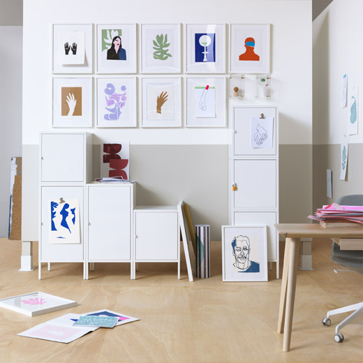 IKEA HÄLLAN lockable cabinet offers privacy at home, when sharing rooms, or in the office.
