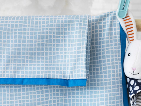 IKEA KLÄMMIG baby quilt cover has no harmful dyes and is made of cotton from more sustainable sources.
