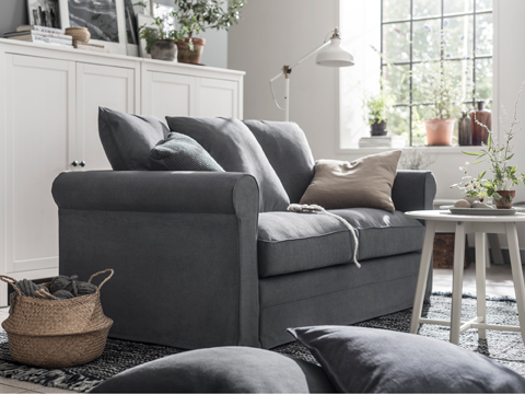 GRÖNLID comes with great depth and soft comfort. The multi-cushion backrest lets you find the perfect seating position every time.